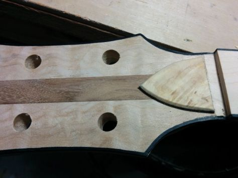 This is the cover I made for the truss rod access.