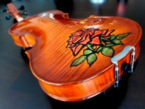 The Completed Rose Inlay