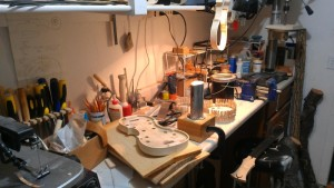 Our Workshop. It's small often gets chaotic!