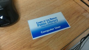 My Claremont Public Library computer-use card.