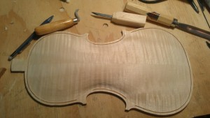 This is where I ended with my back plate. I still need to cut the corner routs and put the purfling in.