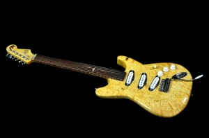 "This guitar is loosely based on the Fender Stratocaster, with a bolt-on nect and 25.5"" scale length."